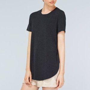 Aritzia Wilfred Capucine Black Side Slit T shirt